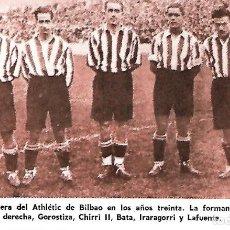 Coleccionismo deportivo: ATHLETIC DE BILBAO: RECORTEDE LA DELANTERA GOROSTIZA, CHIRRI II, BATA, IRARAGORRI Y LAFUENTE. Lote 207111896