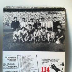 Coleccionismo deportivo: ANTIGUO CARTEL DOCUMENTAL FÚTBOL 114 GOLES. COPA GENERALÍSIMO. Lote 207140085