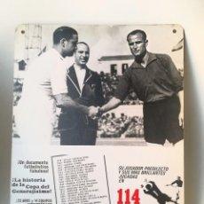 Coleccionismo deportivo: ANTIGUO CARTEL DOCUMENTAL FÚTBOL 114 GOLES.. Lote 207140140