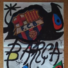 Coleccionismo deportivo: CARTEL O POSTER BARÇA - 75 ANIVERSARI FUTBOL CLUB BARCELONA (1899-1974) - JOAN MIRÓ. Lote 207262682