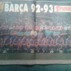 Coleccionismo deportivo: POSTER BARÇA 1992-93. Lote 277676143