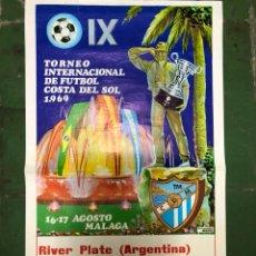 Coleccionismo deportivo: CARTEL TORNEO COSTA DEL SOL 1969 RIVER PLATE,CORINTHIANS Y FC BARCELONA. Lote 207776423