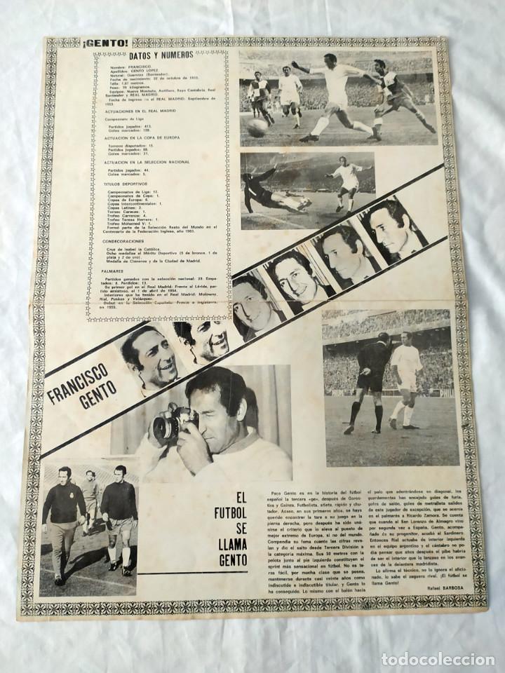 Coleccionismo deportivo: REAL MADRID - POSTER DE GENTO - Foto 2 - 132197362