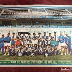 Coleccionismo deportivo: CARTEL DEL CD MALAGA TEMPORADA 1971/72. Lote 208141115
