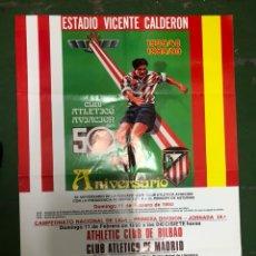 Coleccionismo deportivo: CARTEL 50 ANIVERSARIO CLUB ATLÉTICO AVIACIÓN ATLETICO DE MADRID. Lote 208184497
