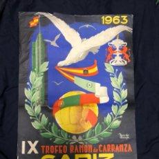 Coleccionismo deportivo: CARTEL IX TROFEO CARRANZA 1963. Lote 209043005