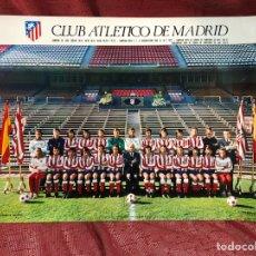 Coleccionismo deportivo: CARTEL FOTOCOLOR ATLÉTICO MADRID 1974-75 CARTÓN DURO. Lote 209163511