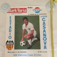 Coleccionismo deportivo: VALENCIA CF SLAVIA COPA FERIAS 1969. Lote 209652467