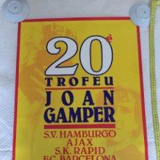Coleccionismo deportivo: AJAX SK RAPID HAMBURGO FC BARCELONA TROFEO JOAN GAMPER 1985. Lote 209733713