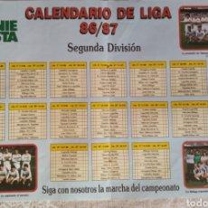 Coleccionismo deportivo: PÓSTER CALENDARIO DE LIGA 86/87, 2° DIVISIÓN. Lote 209810593