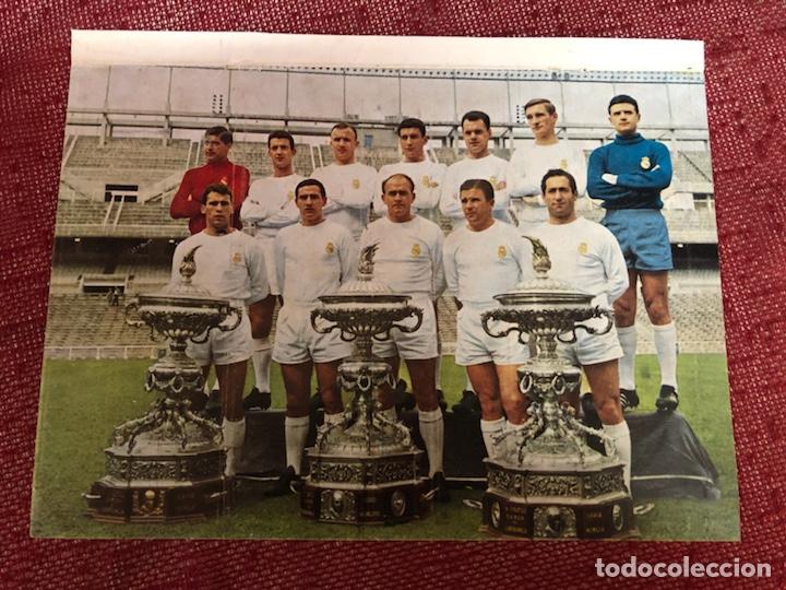 PLANTILLA DEL REAL MADRID TROFEOS CARRANZA AÑOS 60 (Coleccionismo Deportivo - Carteles de Fútbol)
