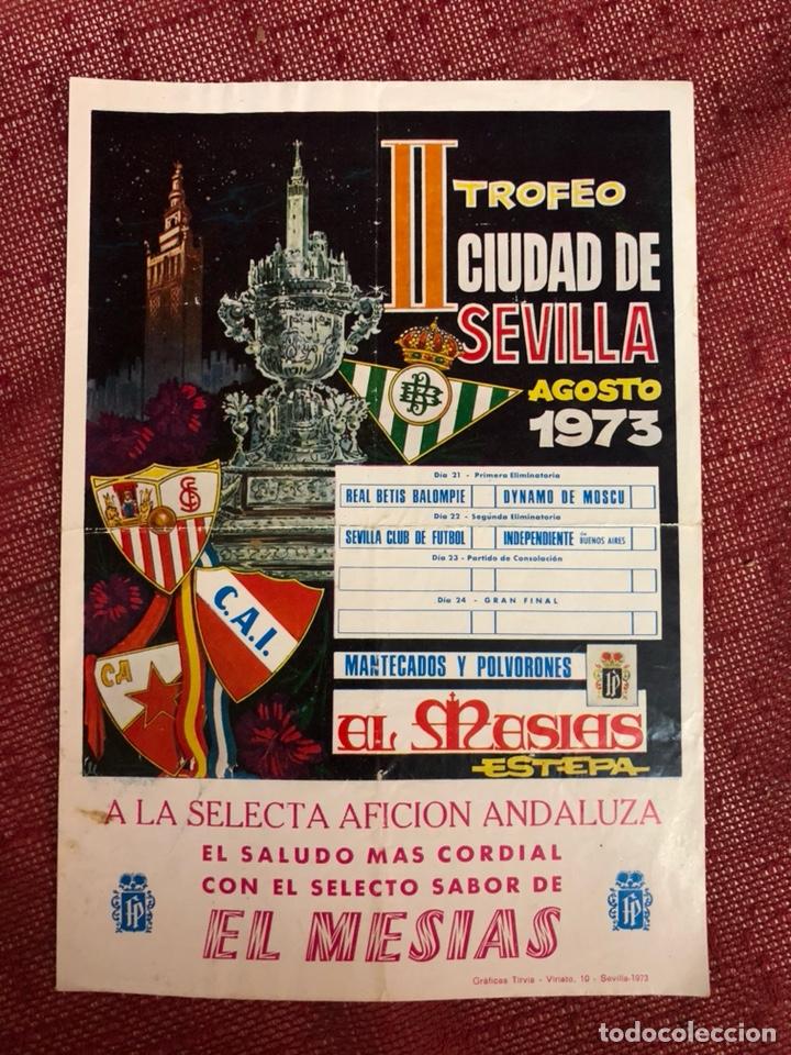 PROGRAMA DE MANO CARTEL II TROFEO CIUDAD DE SEVILLA 1973 (Coleccionismo Deportivo - Carteles de Fútbol)