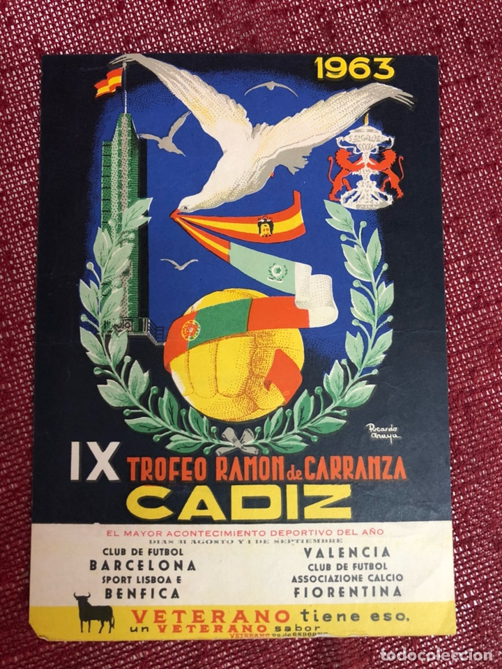 PROGRAMA CARTELITO IX TROFEO CARRANZA 1963 (Coleccionismo Deportivo - Carteles de Fútbol)