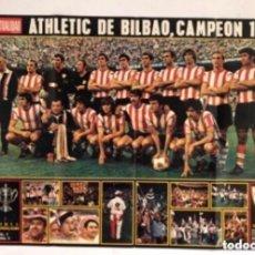 Coleccionismo deportivo: POSTER ATHLETIC CLUB BILBAO CAMPEÓN COPA DEL GENERALISMO 1973. TRASERA CRÓNICA DEL PARTIDO.. Lote 211442784