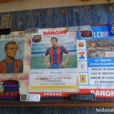 Coleccionismo deportivo: FC BARCELONA CARTEL IX TROFEO JUAN GAMPER Y HOMENAJE FERNANDO OLIVELLA. REGALO HOMENAJE KUBALA.. Lote 212471167