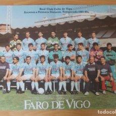 "Coleccionismo deportivo: POSTER ""REAL CLUB CELTA DE VIGO "" TEMPORADA 1991-1992 FARO DE VIGO. Lote 213701962"