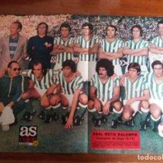 Coleccionismo deportivo: PÓSTER AS COLOR N° 313. REAL BETIS BALOMPIE. CAMPEÓN DE COPA 76/77.. Lote 214566991