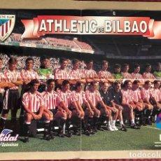 Coleccionismo deportivo: POSTER ATHLETIC DE BILBAO 1996 1997 VIDAL GOLOSINAS P1. Lote 214988811