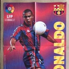 Coleccionismo deportivo: POSTER RONALDO BARCELONA 1996 1997 VIDAL GOLOSINAS P1. Lote 214989773