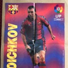 Coleccionismo deportivo: POSTER STOICHKOV BARCELONA 1996 1997 VIDAL GOLOSINAS P1. Lote 214989883