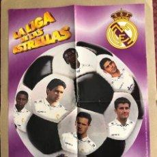 Coleccionismo deportivo: POSTER LA LIGA DE LAS ESTRELLAS REAL MADRID 1996 1997 VIDAL GOLOSINAS P1. Lote 214994137