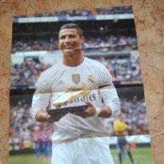 Coleccionismo deportivo: POSTER CRISTIANO RONALDO BOTA DE ORO REAL MADRID FUTBOL. Lote 215619193