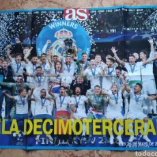 Coleccionismo deportivo: POSTER REAL MADRID FÚTBOL LA DECIMOTERCERA COPA DE EUROPA 2018. Lote 215823535
