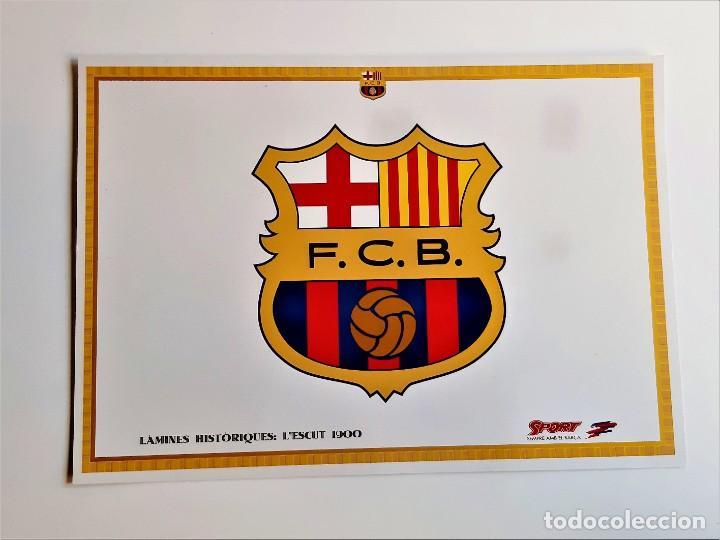 LAMINES HISTORIQUES BARCELONA CARTON - 21 X 30.CM (Coleccionismo Deportivo - Carteles de Fútbol)