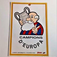 Coleccionismo deportivo: LAMINES HISTORIQUES BARCELONA CARTON - 21 X 30.CM. Lote 216454646