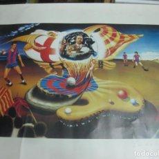 Coleccionismo deportivo: LITOGRAFIA BARÇA CAMPEON RECOPA 81-82. NUMERADA (361/500) CON DEDICATORIA DEL AUTOR A. PRECIADOS. Lote 217120717