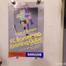 Coleccionismo deportivo: CARTEL POSTER FUTBOL CLUB BARCELONA COPA DE EUROPA. Lote 217312232