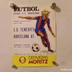 Coleccionismo deportivo: CARTEL POSTER FUTBOL CLUB BARCELONA CERVEZA MORITZ. Lote 217369265
