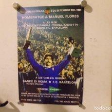 Coleccionismo deportivo: CARTEL POSTER FUTBOL CLUB BARCELONA. Lote 217377380