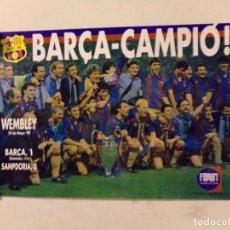 Coleccionismo deportivo: CARTEL POSTER FUTBOL CLUB BARCELONA. Lote 217379592