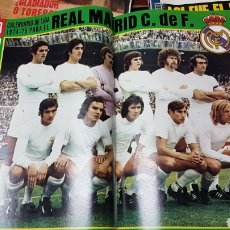 Coleccionismo deportivo: POSTER CALENDARIO REAL MADRID 74- 75. Lote 218098782