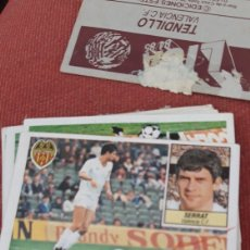 Coleccionismo deportivo: SERRAT VALENCIA ESTE 84 85 1984 1985 DESPEGADO. Lote 218210402