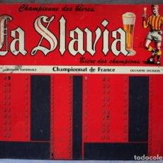 Coleccionismo deportivo: MARCADOR DE FUTBOL CERVEZA SLAVIA - DE HIERRO PINTADO 78X61,5CM. Lote 218771692