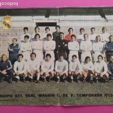 Collectionnisme sportif: POSTER REAL MADRID 73 74 - PLANTILLA FUTBOL LIGA TEMPORADA 1973 1974 REVISTA BOLETIN OFICIAL. Lote 219211891