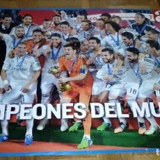 Coleccionismo deportivo: POSTER DEL REAL MADRID CAMPEONES DEL MUNDO 20 DICIEMBRE 2014 MARRAKECH PERIODICO AS. Lote 219712881