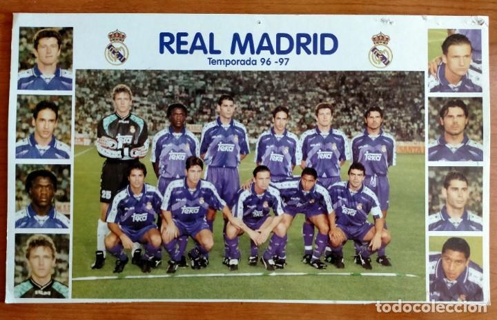 PÓSTER PLANTILLA REAL MADRID 96/97 (Coleccionismo Deportivo - Carteles de Fútbol)