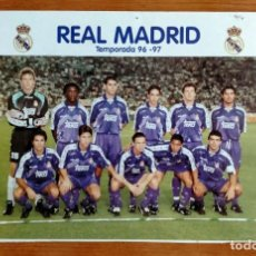 Coleccionismo deportivo: PÓSTER PLANTILLA REAL MADRID 96/97. Lote 220794143