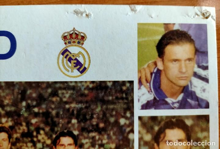Coleccionismo deportivo: Póster plantilla Real Madrid 96/97 - Foto 6 - 220794143