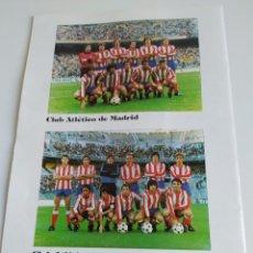 Coleccionismo deportivo: ATLETICO DE MADRID ATLETICO MADRILEÑO ALINEACION ENERO 1981 REVISTA ATLETICO DE MADRID. Lote 220898198
