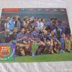 Coleccionismo deportivo: (LLL)POSTER ORIGINAL F.C.BARCELONA CAMPEÓN COPA EUROPA 1992 WEMBLEY(30 X 38 CM)BARÇA,CRUYFF,KOEMAN. Lote 221327948