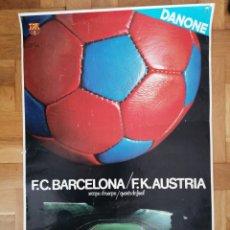 Coleccionismo deportivo: CARTEL PÓSTER F.C. BARCELONA F.K. AUSTRIA 1983. Lote 221477491