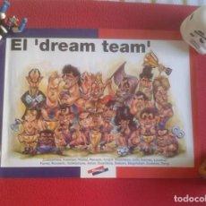 Coleccionismo deportivo: CARTEL POSTER DE FÚTBOL FOOTBALL CLUB BARCELONA BARSA DREAM TEAM CARICATURAS EQUIPO CARTOONS CRUYFF.. Lote 221658256