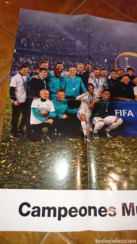 Coleccionismo deportivo: Super póster de 835x59cm,y revistade fútbol real Madrid, campeones mundial de clubes 2017 - Foto 4 - 222380552