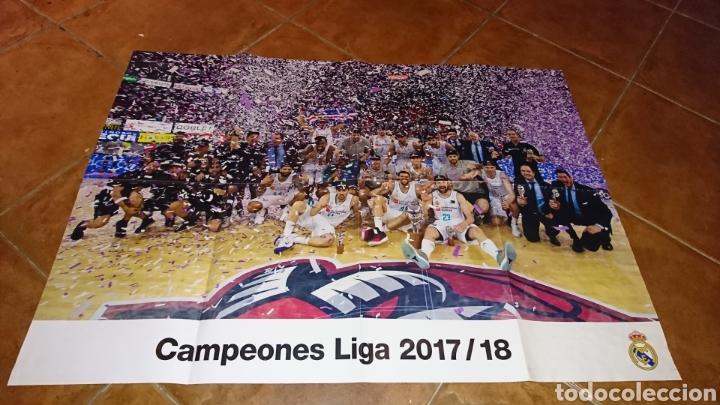 SUPER POSTER DE 83'5X59CM Y REVISTA,DE FÚTBOL REAL MADRID, CAMPEONES LIGA 2017/18 (Coleccionismo Deportivo - Carteles de Fútbol)