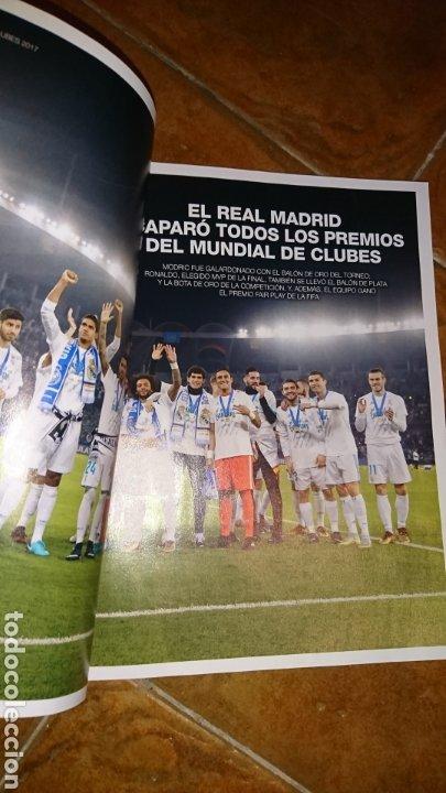 Coleccionismo deportivo: Super póster de 835x59cm,y revistade fútbol real Madrid, campeones mundial de clubes 2017 - Foto 6 - 222380552