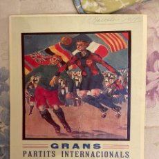 Collectionnisme sportif: CARTEL GRAN PARTITS INTERNACIONALS RED STAR DE PARIS I F.B. BARCELONA NUEVO. Lote 222724708